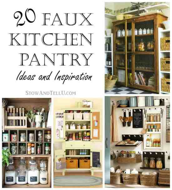 20 Faux Kitchen Pantry Ideas Stow Tellu