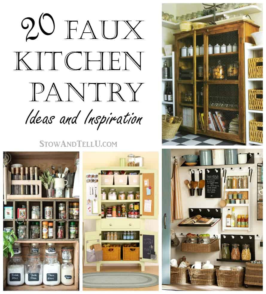 Kitchen Cabinets Or Open Shelving We Asked An Expert For: 20 Faux Kitchen Pantry Ideas