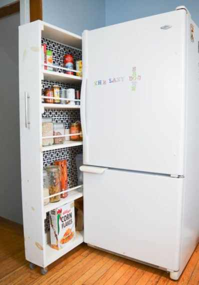 If you have no kitchen pantry in your home, any of these faux pantry ideas might work for you - StowandTellU.com