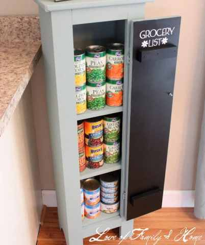 Faux kitchen pantry ideas that could work for a kitchen with no pantry space - StowandTellU.com