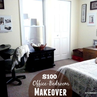 $100 Office-Guest Bedroom Makeover