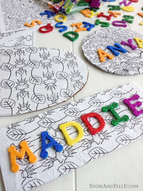 coloring-page-kids-craft - StowAndTellU.com