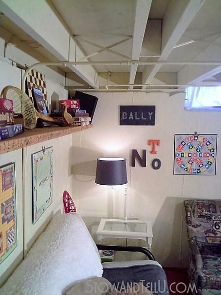 loft-style-basement-update-and painted ceiling - StowAndTellU.com