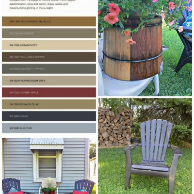 Yardworkation #2 – Accent Colors for a Blue House