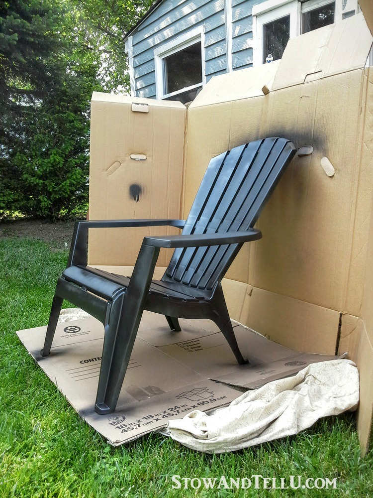 Ordinaire How To Make Board Spray Paint Booth   Tutorial For Spray Painted Plastic  Lawn Chairs With