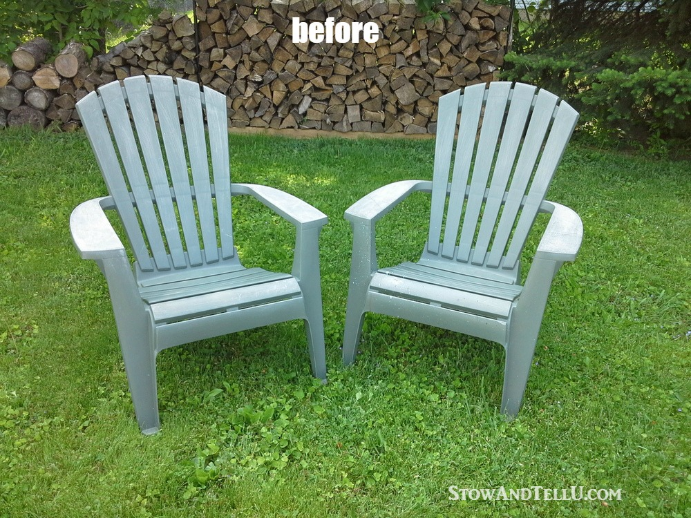 Tutorial For Spray Painted Plastic Lawn Chairs With A Tip For Making An  Easy Spray Paint