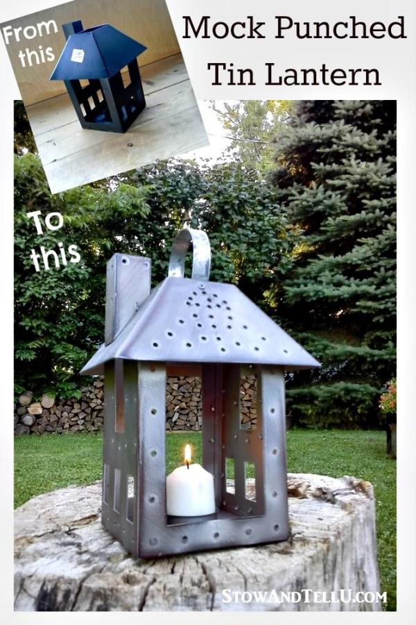 repurposed-faux-mock-punch-tin-lantern - StowandTellU.com