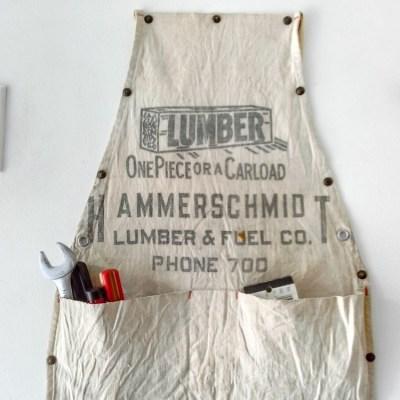 Vintage Work Apron Hanging Storage