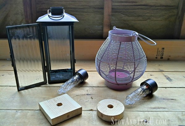 Thrifted Lanterns -DIY upcycled lantern solar lights - stowandtellu