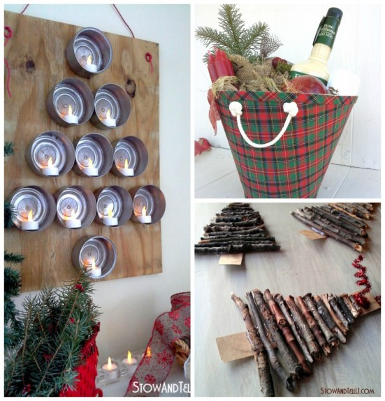 Rustic Christmas Craft and Decor Ideas - StowandTellU.com #FiftyandFab Blog Hop