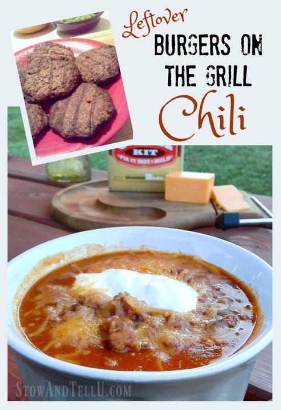 Leftover burgers on the grill chili recipe - StowAndTellU.com
