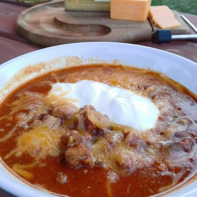 Leftover Grilled Hamburger Chili