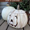 DIY White Painted Jack o Lantern | StowandTellU