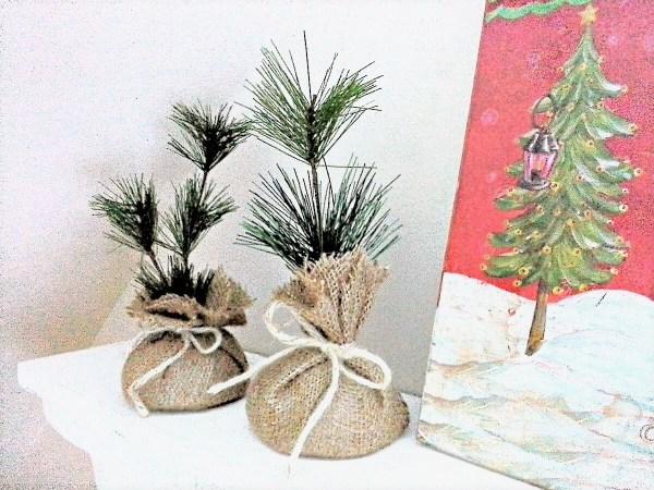 DIY faux sapling - seedling holiday gift idea - StowandTellU.com