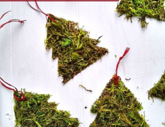 DIY Moss Christmas Tree Ornament | StownadTellU