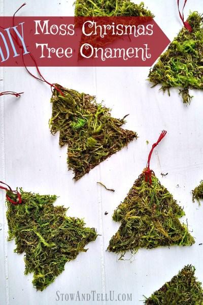 DIY Moss Christmas Tree Ornaments