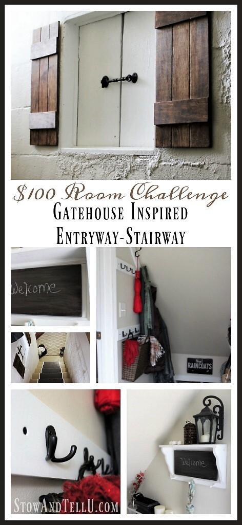 Gatehouse-inspired-entry-stairway - $100 Room Challenge | stowandtellu