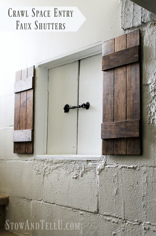 crawl-space-entry-faux-shutters|stowandtellu