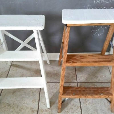 How to Turn a Step Ladder into a Stool for Extra Seating