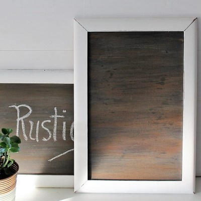How to Make a Faux Woodgrain Chalkboard Surface