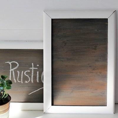 How to Make a Faux Woodgrain Chalkboard Surface