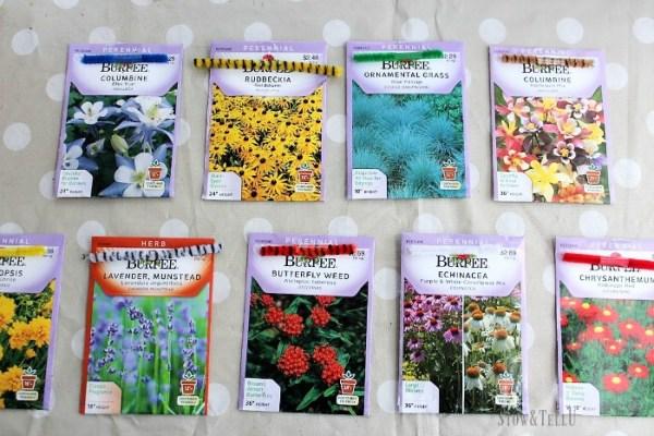 Kid friendly pipe cleaner seedling markers | StowandTellU.com