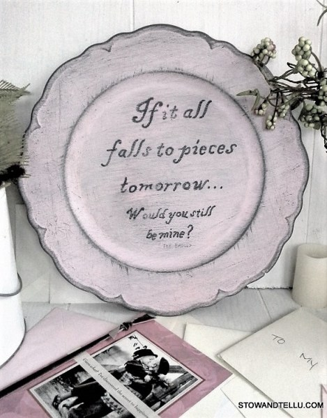 song-lyriuc-painted-plate   StowandTellU.com