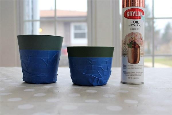 Making copper foil paint dipped planters | stowandtellu.com