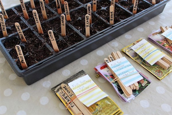 Seed packet sowing and planning | Stowandtellu.com