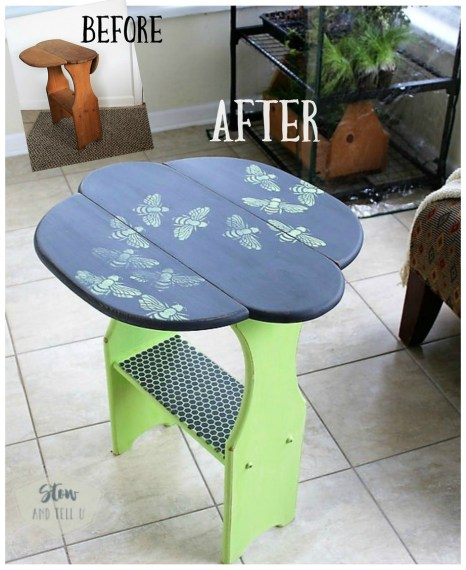 bee-stencil-side-table-before-afte r |stowandtellu
