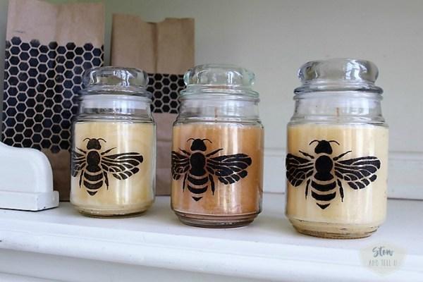 diy-bumble-bee-jar-candles | Stowandtellu.com