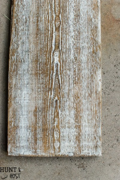 How to age wood with plaster | Hunt and Host | 10 ways to make wood look old and weathered