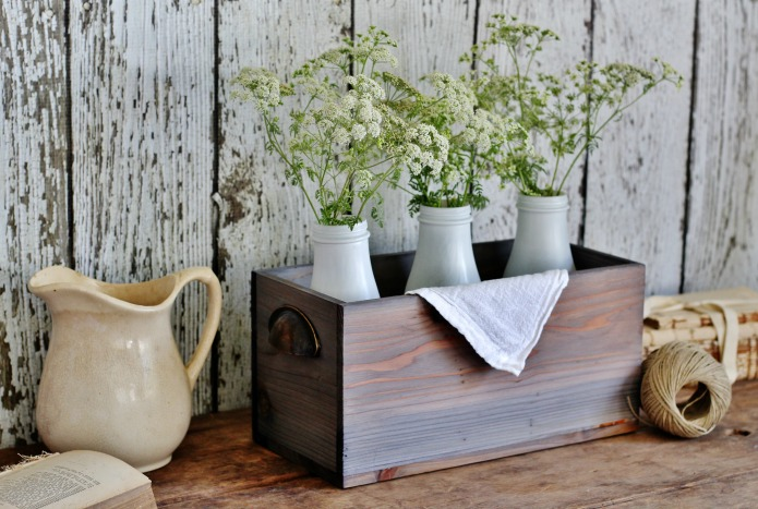 Fancy Farmhouse faux weathered barn wood stain Knick of Time faux wood aging techniques