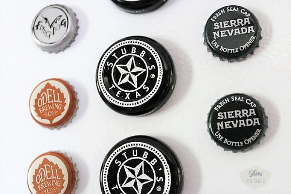 Beer and bbq jar lid magnets |diy father's day gift | stowandtellu.com