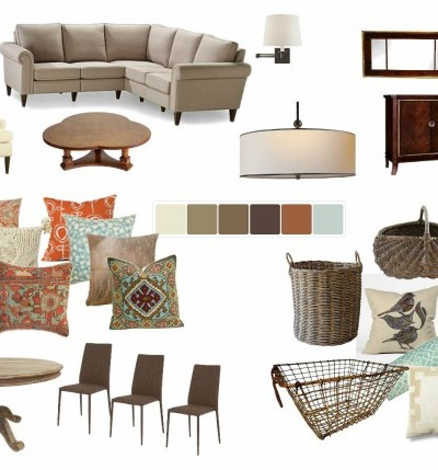 Rustic cottage mood board