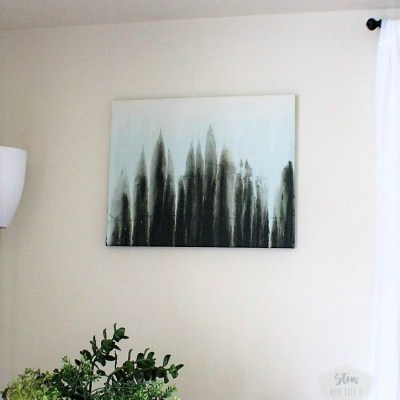 Abstract Forest Drip Art