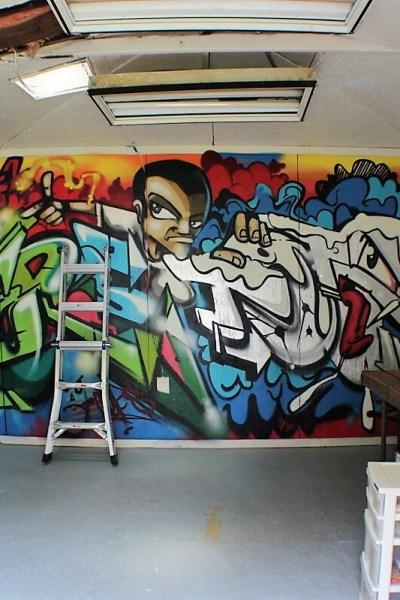 good bye graffiti wall