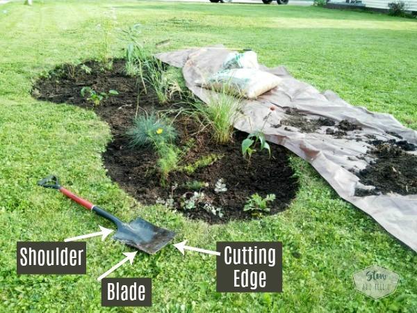 How to start a perennial garden flower bed   spade shovel parts   Stowandtellu.com