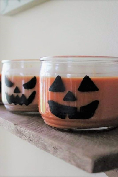 Jar Candle Jack-O-Lanterns