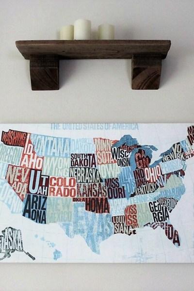 Canvas Map Art   US Modern Blue   #Sponsored by Photowall   Stowandtellu.com