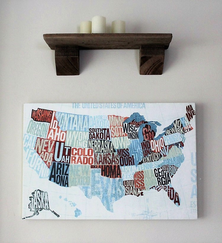 Canvas Map Art | US Modern Blue | #Sponsored by Photowall | Stowandtellu.com