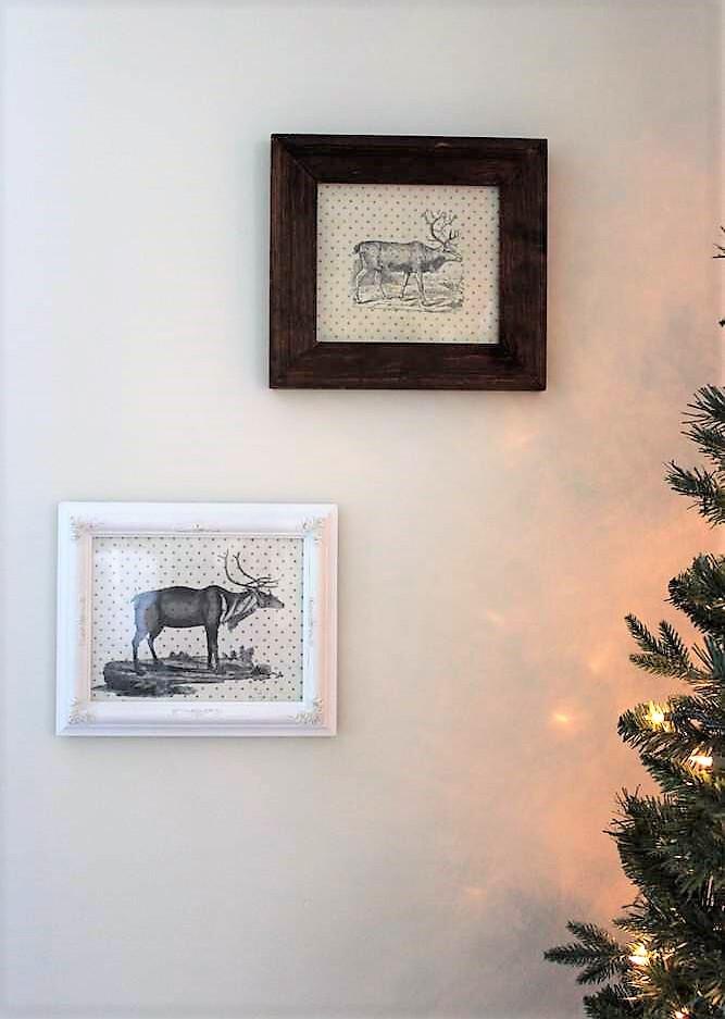 DIY rustic reindeer Christmas wall art | stowandtellu.com