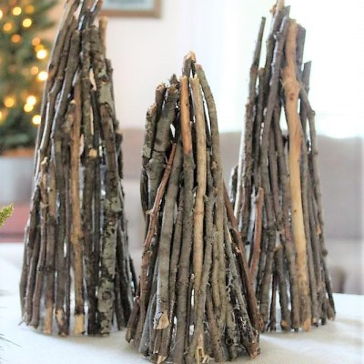 Christmas Tree Decor Twig Luminaries