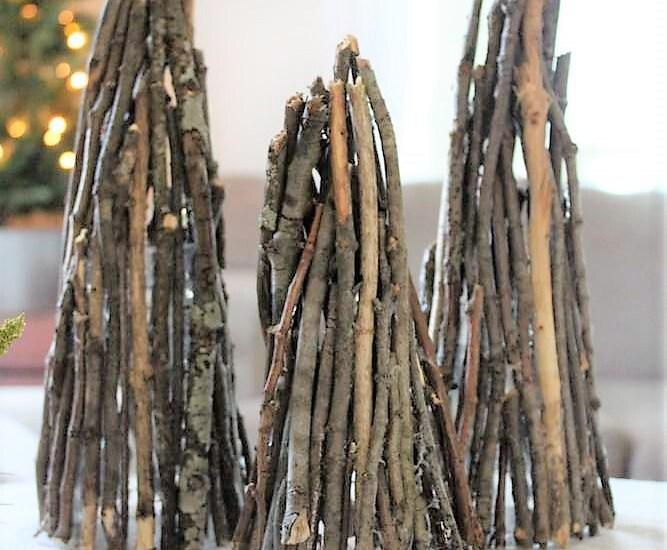 How to make Christmas tree decor twig luminaries   stowandtellu.com