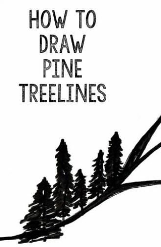 Draw Pine Treelines | StowandTellU.com