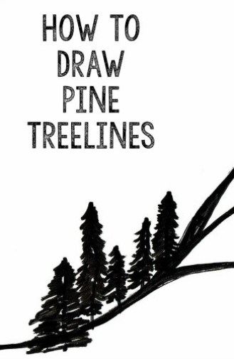 Draw Pine Treelines   StowandTellU.com