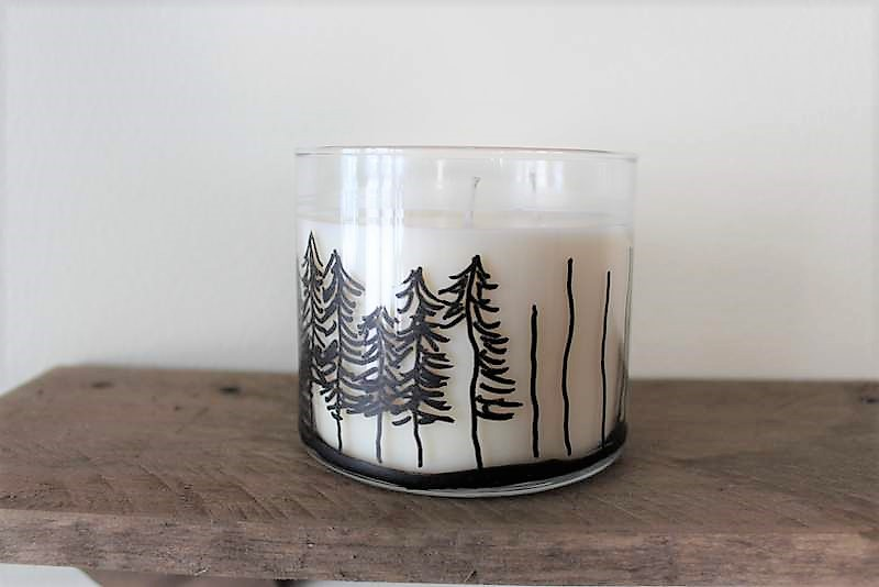 How to draw trees on jar candles with a paint marker | stowandtellu.com