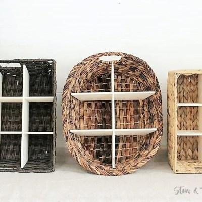 How to Make a DIY Wicker Basket Divider | DIY Divided Basket | stowandtellu