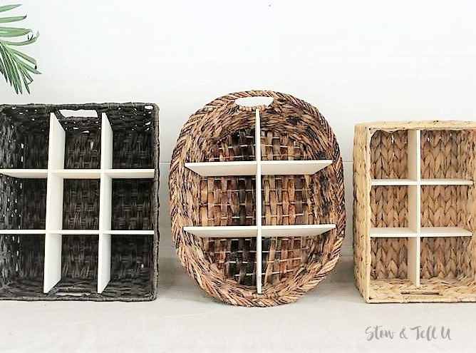 How to Make a DIY Wicker Basket Divider | DIY Divided Basket | stowandtellu