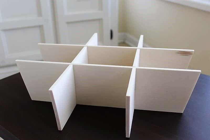 DIY Slotted Wood Storage Basket Divider